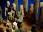 Olmec artifacts with elongated skulls.