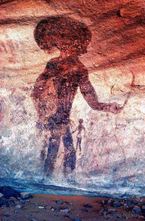 Pinturas Rupestres Las PIEDRAS HABLAN ¡¡¡¡¡¡¡¡¡ A-rock-painting-at-the-tassili-najjer1