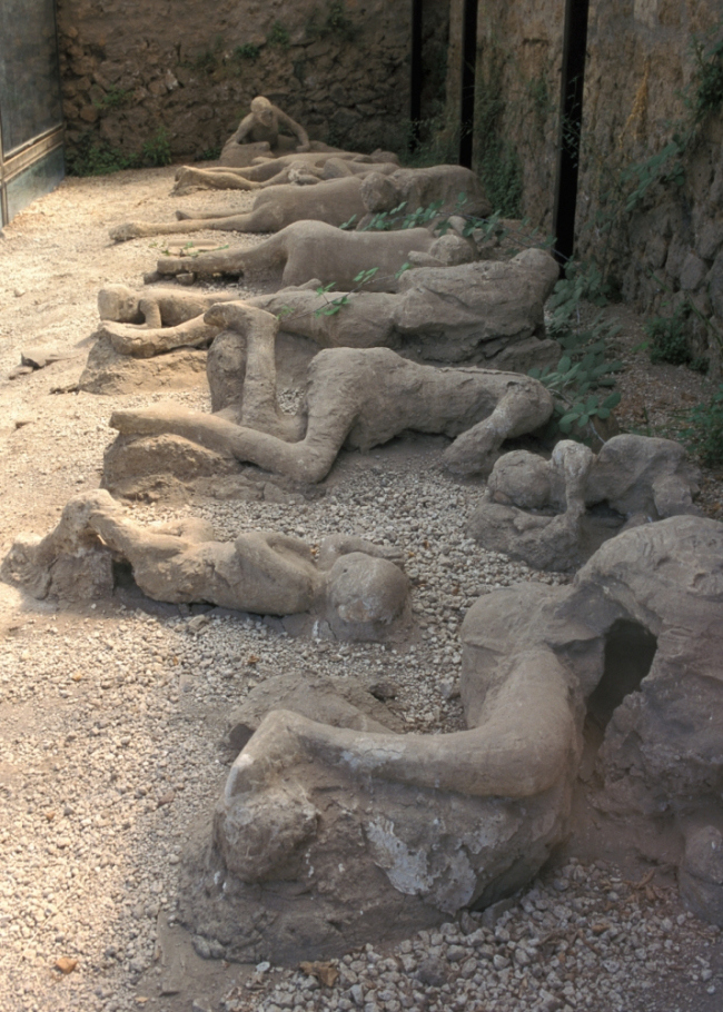 Mount Vesuvius Had Buried The Ancient Roman City Of Pompeii In 79 AD